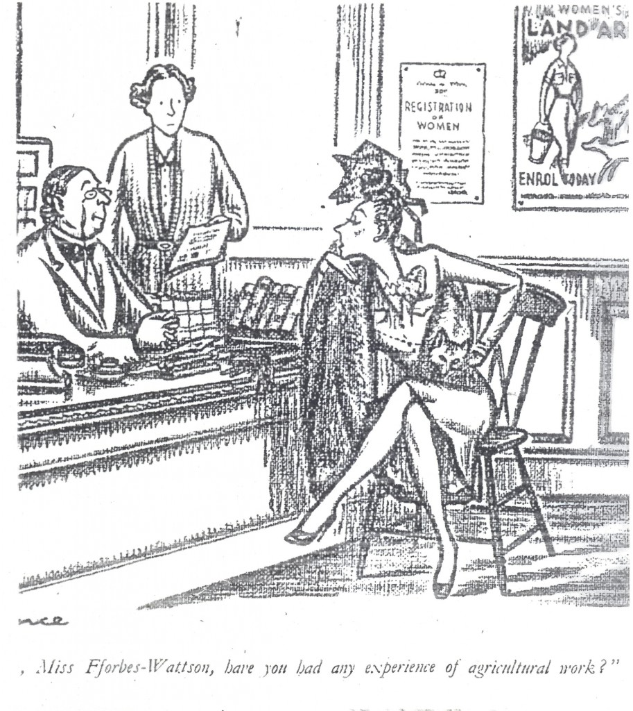 """By the cartoonist, Sillince, originally for Punch magazine, 18 June 1941. Source: """"Laughs on the Land"""", a 1940s anthology of cartoons. Courtesy of Stuart Antrobus."""
