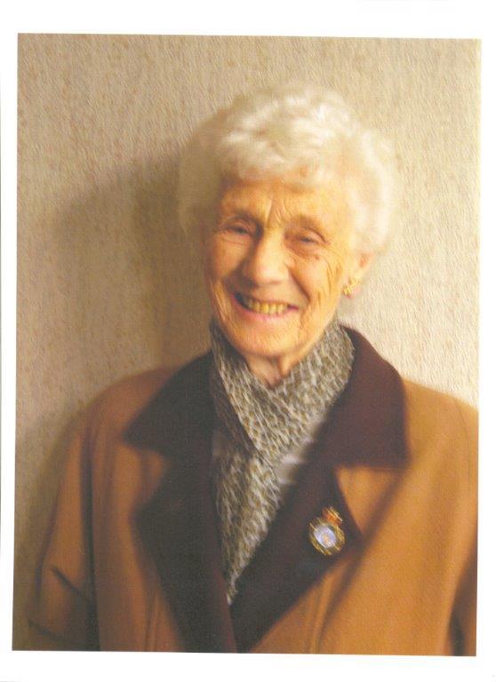 Land Girl veteran, Betty Dugdale.