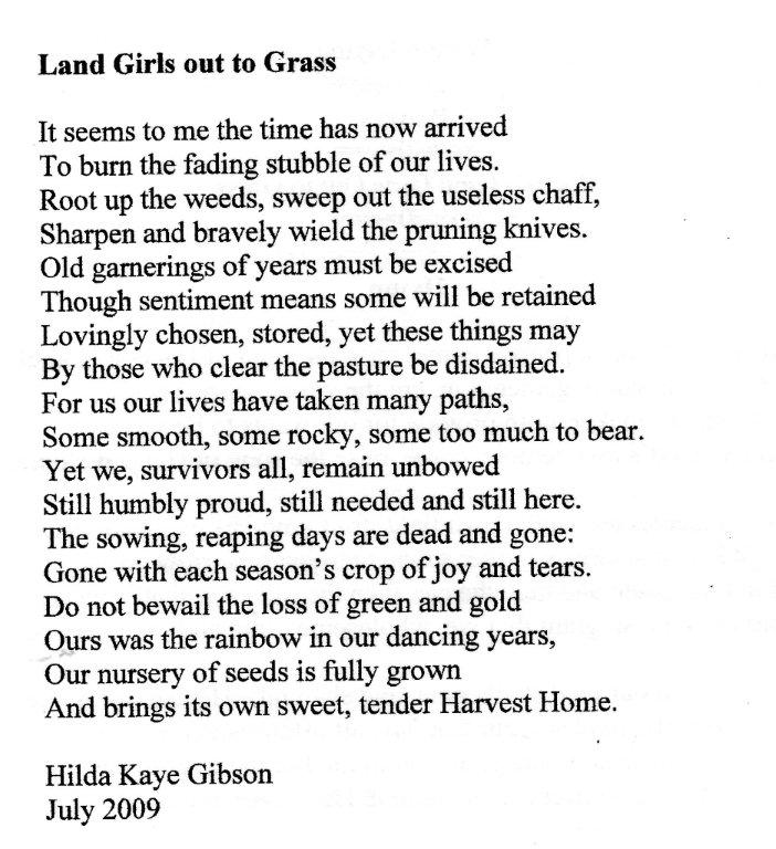 Land Girls out to Grass
