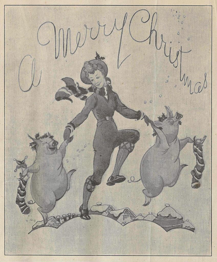 Merry Christmas - The Land Girl December 1944 Cover