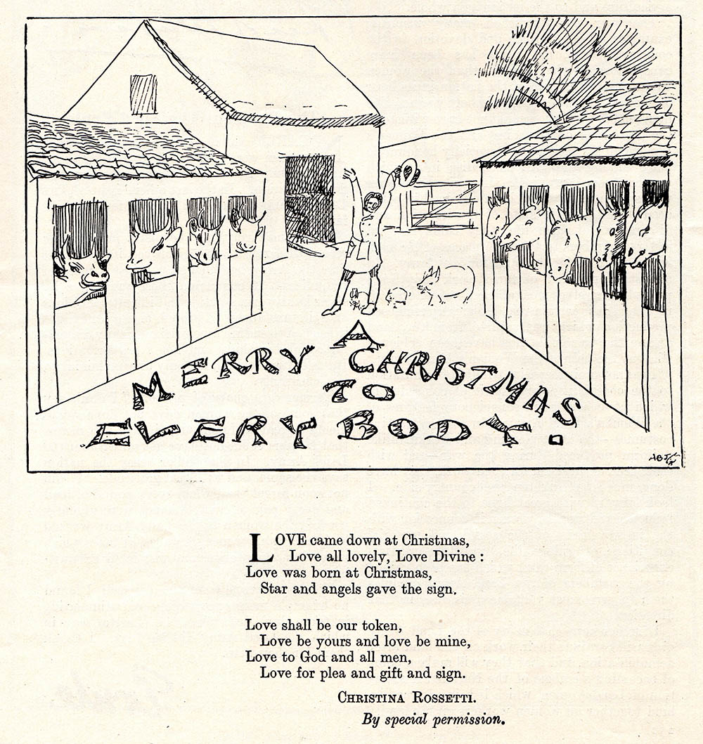 The first of The Landswoman in December 1919, wishing readers a Merry Christmas!