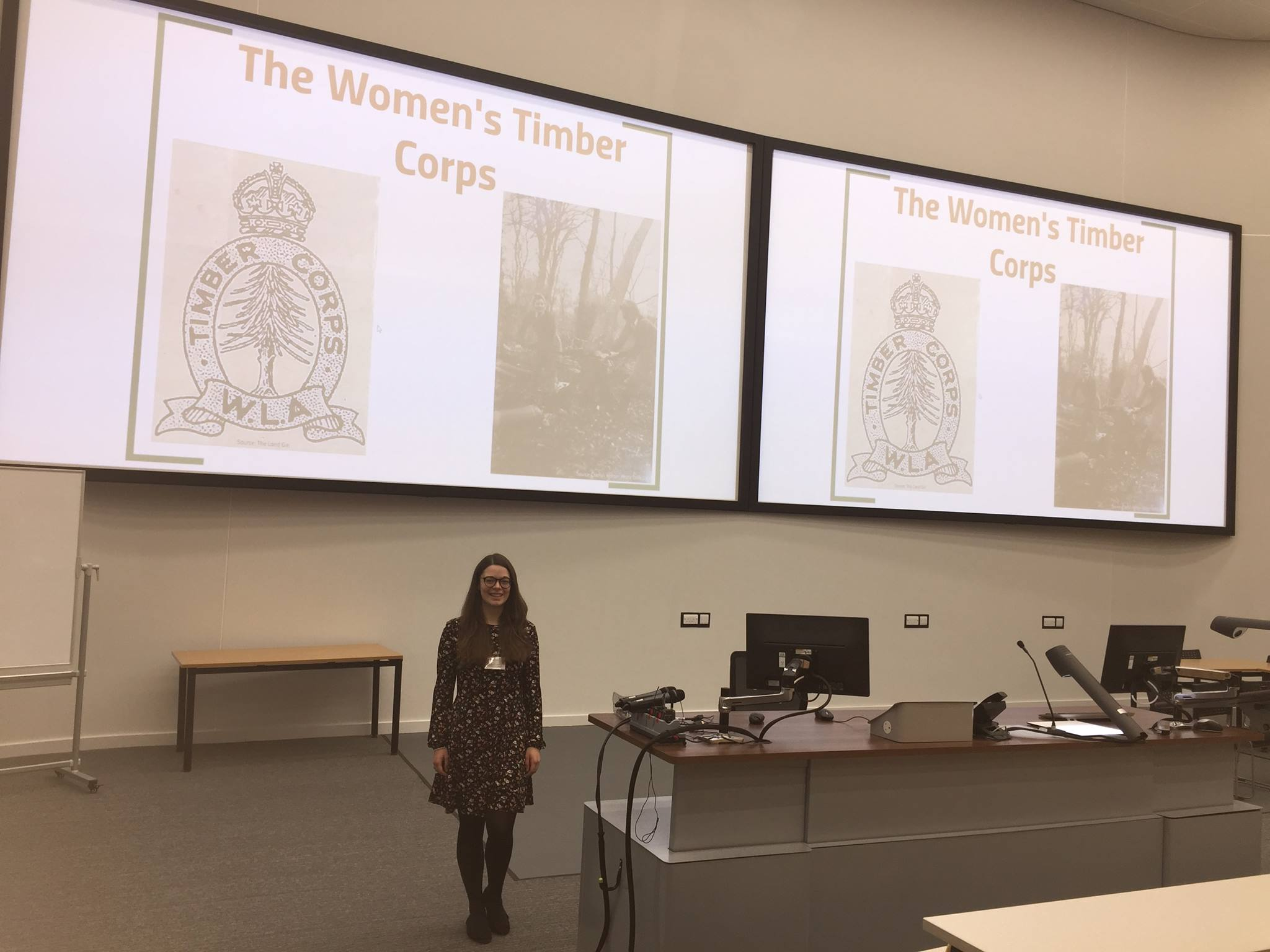 Cherish Watton presenting at the conference 'Bringing Conflict Home' at the University of York in May 2017.