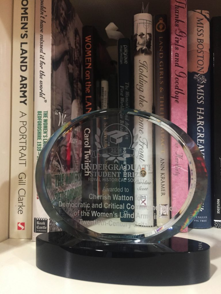 Cherish Watton RHS Undergraduate Public History Prize