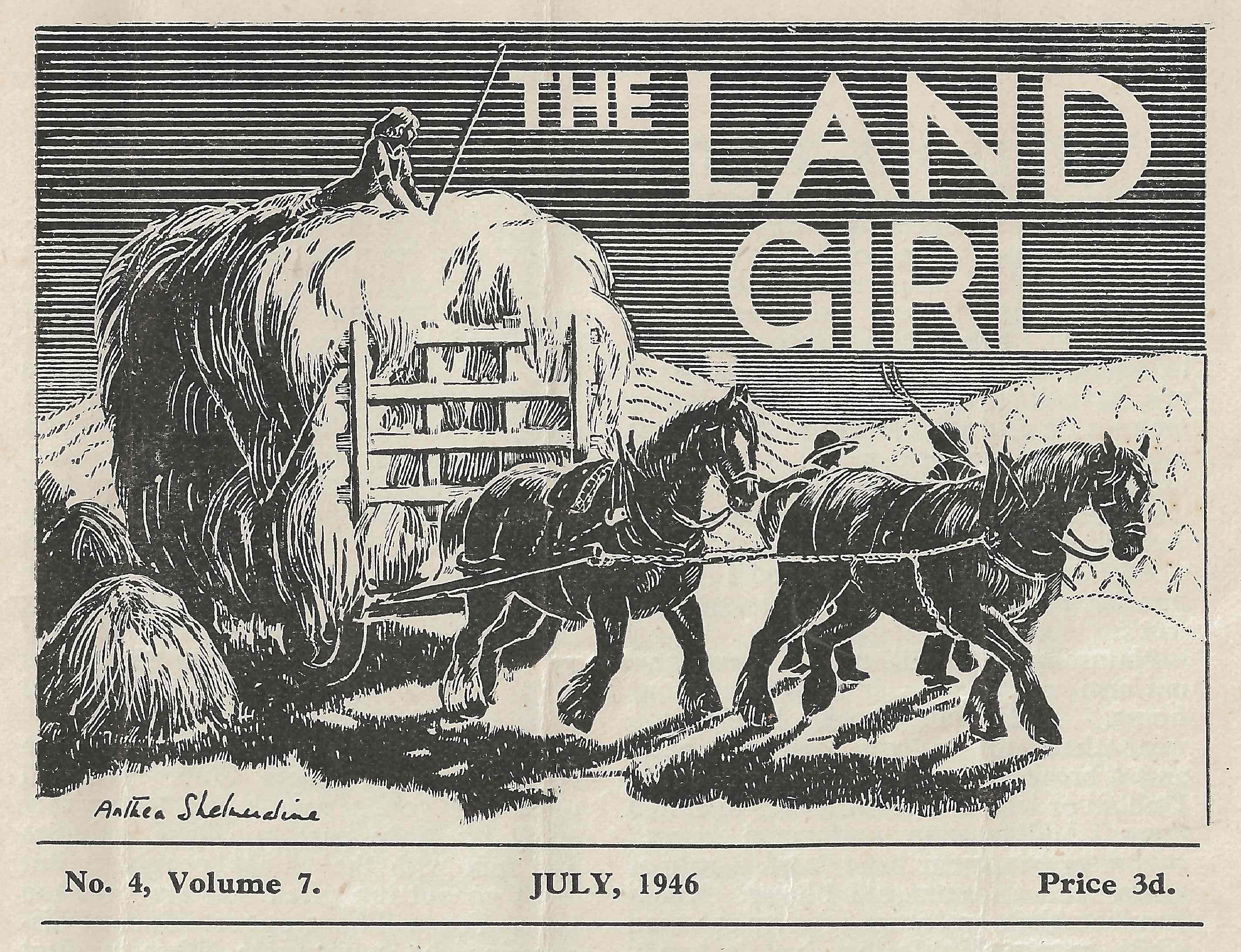 The Land Girl from July 1946.