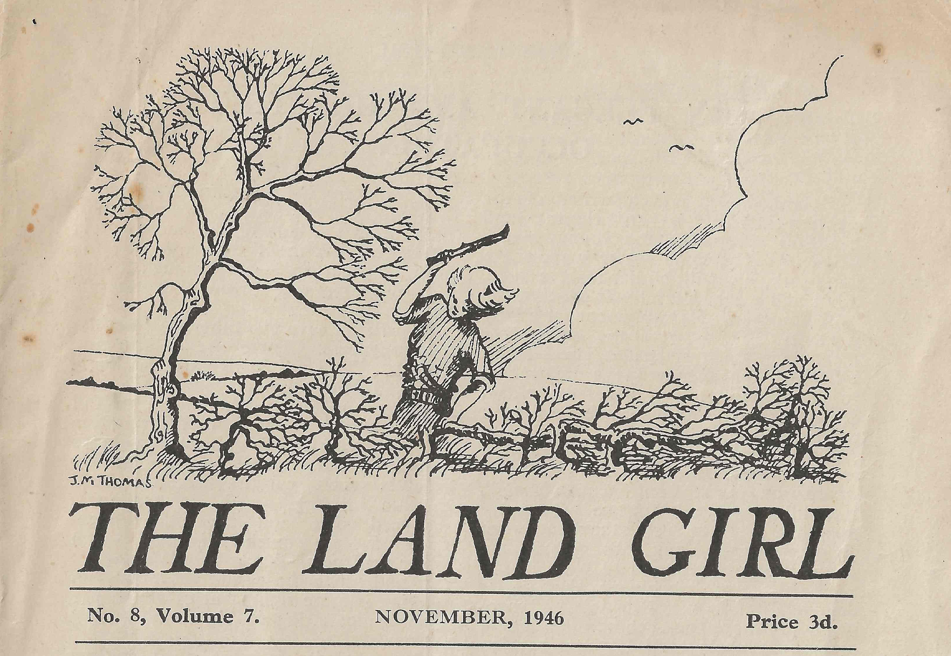 The Land Girl November 1946