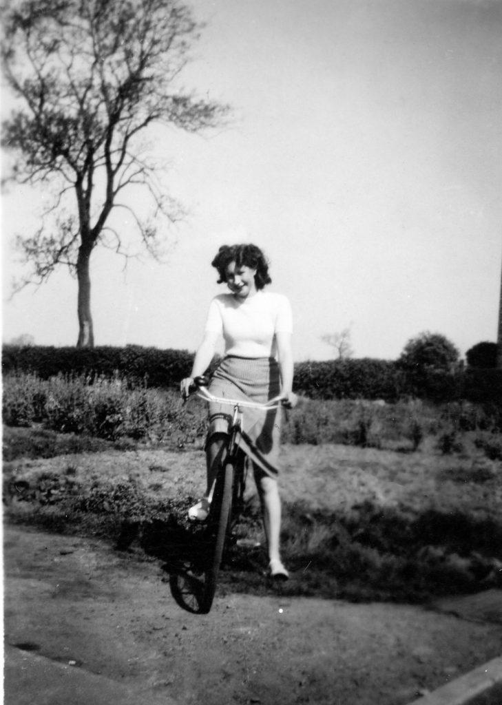 Charley on her bike