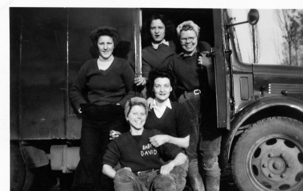 Doris (Cockney), ? , Florrie, Bottom Row, from left to right, Violet Budd and Kay