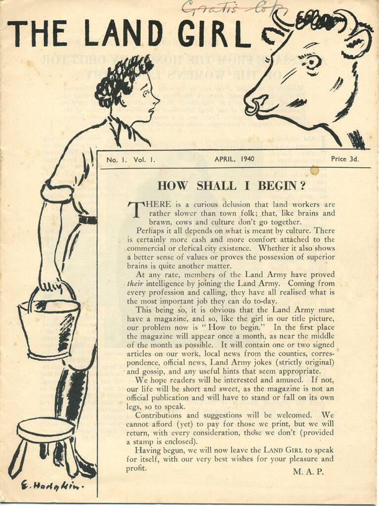 The Land Girl April 1940