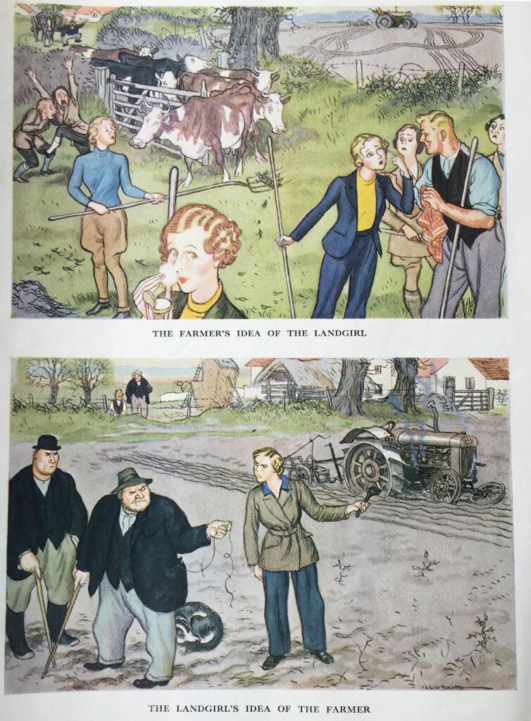 The Farmer's Idea of a Land Girl