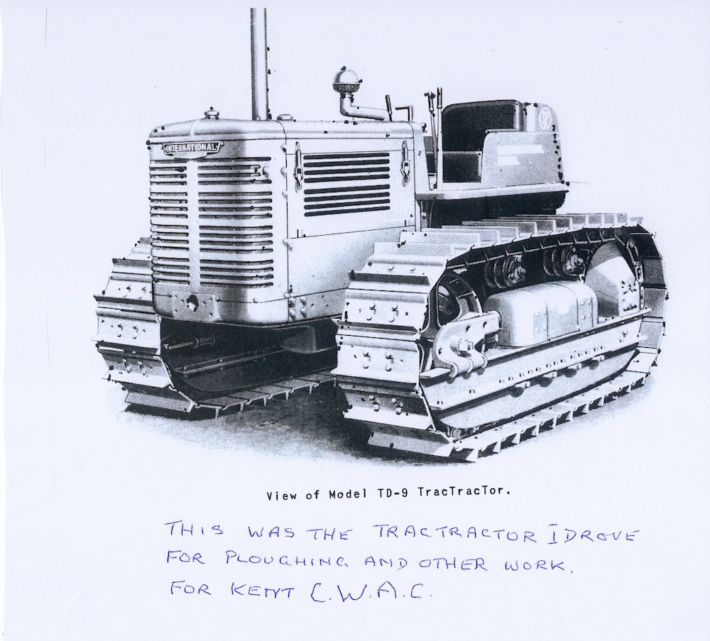 Tractor driven by Katharine Ann Furley during the war