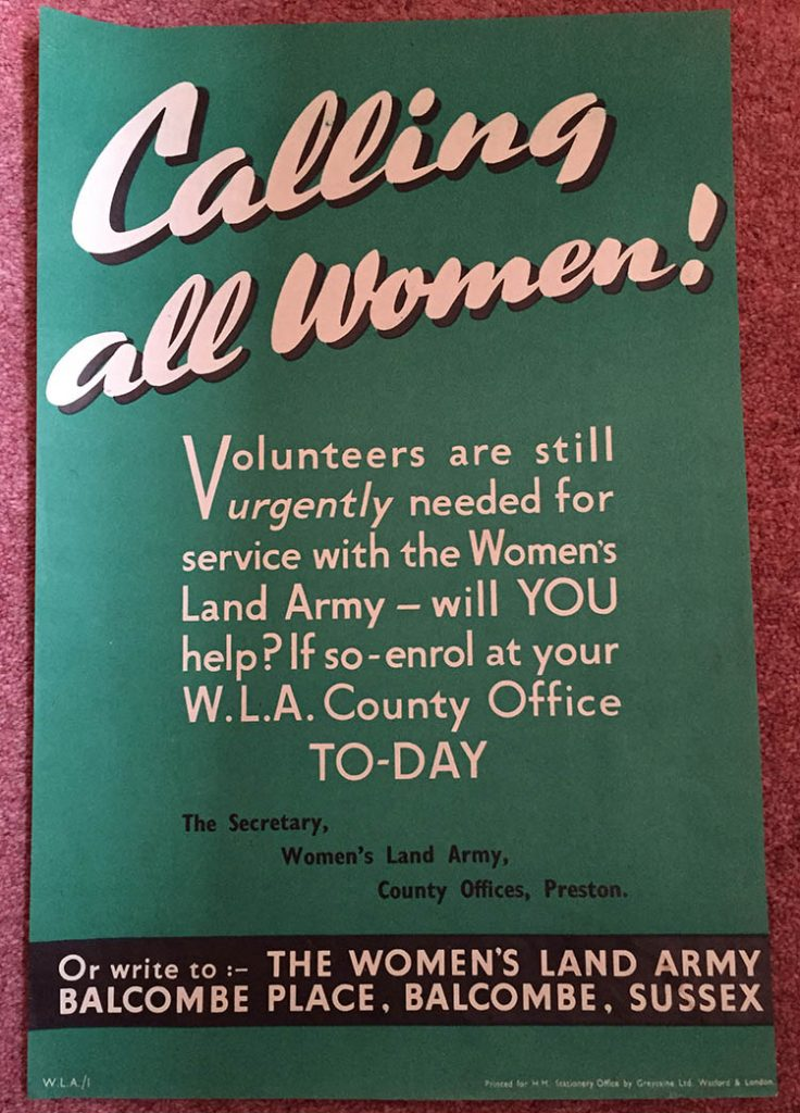 Calling All Women Women's Land Army Poster