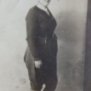 Joycelyn Betty Theobald (née Mumford) in the WLA uniform when she was 19 years old in 1945.