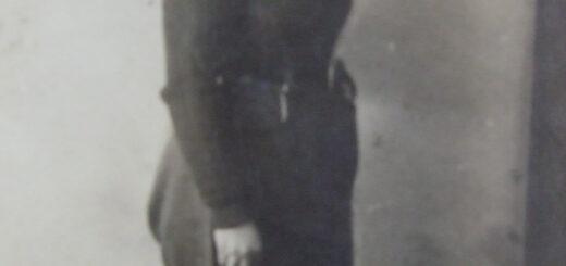 Joycelyn Betty Theobald (née Mumford) in the WLA uniform when she was 19 years old in 1945.