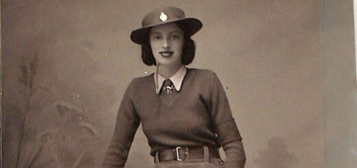 Mary Linda Haynes in her WLA uniform, 1940s