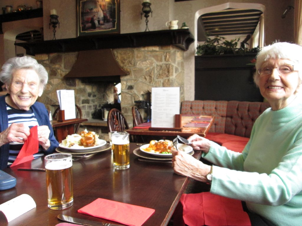Winnie and Mary at Millstone, Tickhill 17th Oct 2015