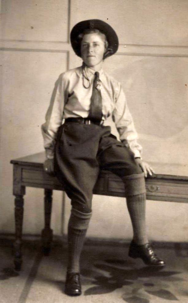 Florence Louisa Mullender in her WLA uniform