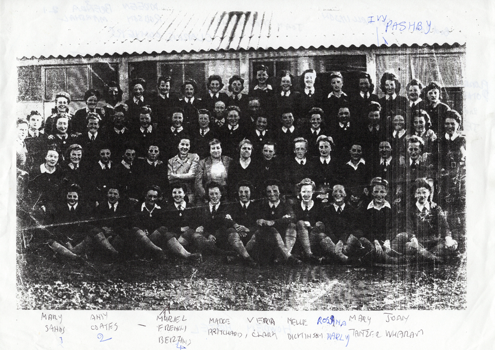 Group photo of Land Girls at Howden Hostel