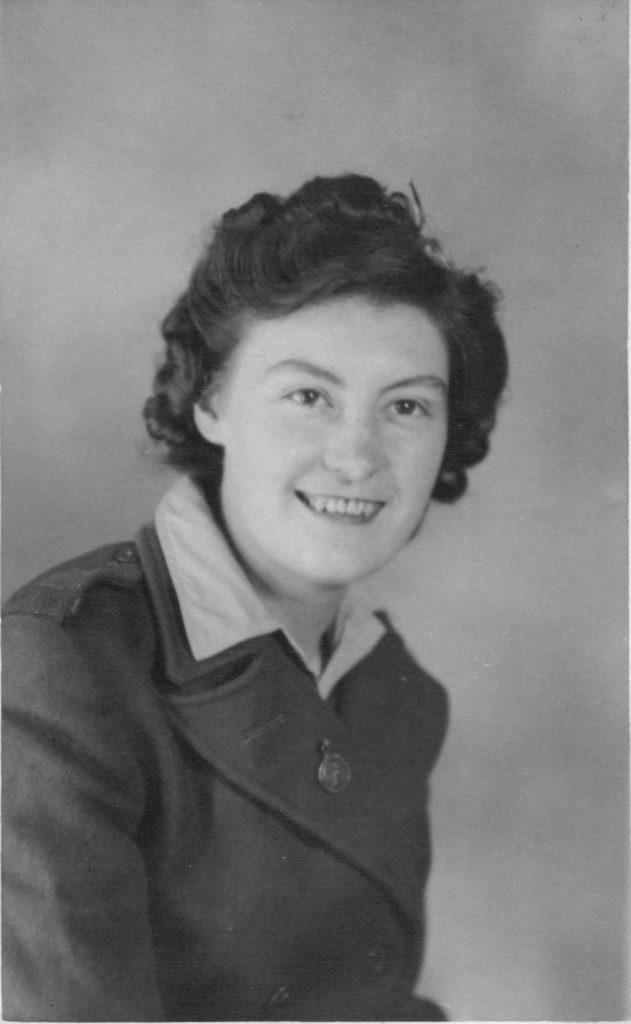Margaret Footsoy in her WLA uniform in 1943