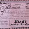 Bird's Nutritious Custard Advertisement